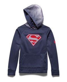 Superman Under Armour Hoodie - Reflective Logo