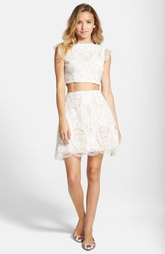 a. drea Crochet Two-Piece Dress available at #Nordstrom