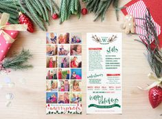 These holiday photo cards are the perfect way to send our your family newsletters in style. They are a roomy design printed on 4 x card stock. Christmas Photo Cards, Christmas Greetings, Holiday Cards, Christmas Newsletter, Photo Wall, Gift Wrapping, Handmade Gifts, Tea Length, Prints