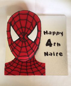 Spider-man birthday cake for a 4 year old boy www.facebook.con/amandascreativecreations 4 Year Old Boy Birthday, Birthday Cakes For Men, Man Birthday, 4 Year Olds, Old Boys, Spiderman, Superhero, Facebook, Happy