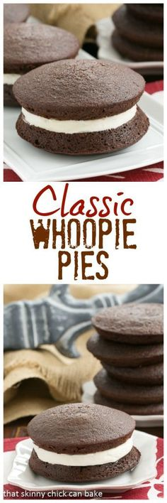 Classic Whoopie Pies | The best recipe for Whoopie Pies with an exquisite marshmallow cream filling