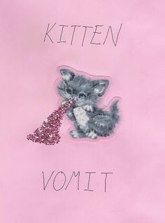 Kitten Vomit - yes, glitter! Crazy Cat Lady, Crazy Cats, Harajuku, Grunge, Up Girl, Pastel Goth, Photos, Pictures, I Love Cats