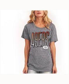 Junk Food Women's San Francisco 49ers Big Draw T-Shirt - Gray M