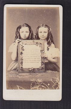 two little girls with an ode to friendship, cdv album filler