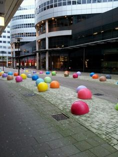 Colorful city posts from Rotterdam - we love it!