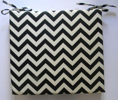 Indoor / Outdoor Foam Universal Chair Seat by PillowsCushionsOhMy Black Chevron, Cushion Pads, Home Decor Inspiration, Seat Cushions, Home Projects, Indoor Outdoor, Handmade Gifts, Chair, Zig Zag