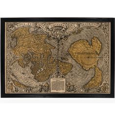 Decorative Map of Ancient Greece by Abraham Ortelius