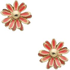 Blu Bijoux Small Coral Flower Stud Earrings ($12) ❤ liked on Polyvore featuring jewelry, earrings, fashion jewelryearrings, blu bijoux, flower stud earrings, red earrings, coral jewellery and red jewelry