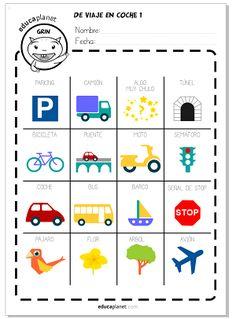 Un listado de juegos y ficha BINGO GRATIS para los que tengan que pasar muchas horas de viaje en coche con nuestros peques.
