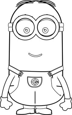 images of coloring pages minions rocking | 9 Best Minion Coloring Pages images | Minion coloring ...