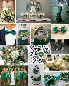 Emerald named 2013 color of the year by Pantone. Can't wait to see this gorgeous color incorporated into more weddings! Chic, bold & all around gratifying