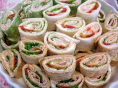 Cheap Party Food Recipes | Pinwheel Party Sandwich Recipe.