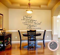 Wall Decal For The Home Christ Is By FourPeasinaPodVinyl 1300 Christian
