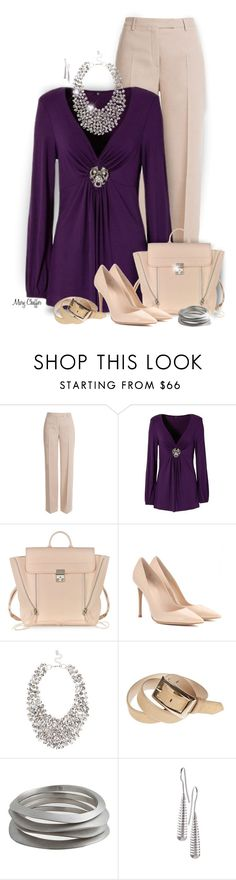 """""""Purple Body-flirt Blouse"""" by mcheffer ❤ liked on Polyvore featuring Emilio Pucci, 3.1 Phillip Lim, Gianvito Rossi, Coast and bodyflirtblouse"""