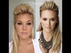 Hilary Duff Half Up, Half Down Hair (skip to 8:56).....tried it and it's fabulous