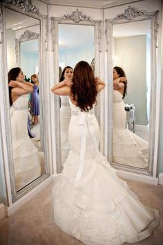 I would want to have access to a three way mirror when getting ready for my wedding so I can check how I look from different angles.