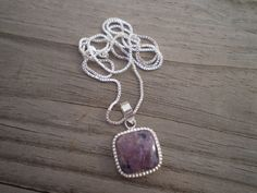 Charoite Pendant Necklace by tlw1212 on Etsy