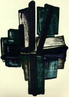 Pierre Soulages - Composition  (1960)