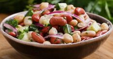 Salade facile aux trois légumineuses
