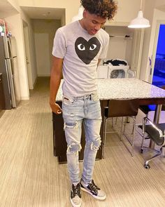 Discover recipes, home ideas, style inspiration and other ideas to try. Dope Outfits For Guys, Swag Outfits Men, Tomboy Outfits, Cute Black Boys, Black Men, Teen Boy Fashion, Mens Fashion, Rapper Outfits, Hype Clothing