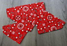 Traditional Red Paisley Dog Bandana/ No Tie Bandana/ Over the Collar Bandana/ Cat Bandana Cat Bandana, Small One, Bandanas, Paisley, Oriental, Dog Cat, Trending Outfits, Unique Jewelry, Handmade Gifts