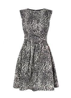 Sleeveless A-Line Animal Print Dress $89
