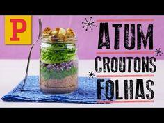 Marmita: Atum + croutons + folhas