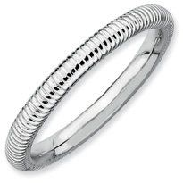 Flaunt Me Silver Stackable Rhodium Textured Band. Sizes 5-10 Available Jewelry Pot. $18.99. Your item will be shipped the same or next weekday!. Fabulous Promotions and Discounts!. 100% Satisfaction Guarantee. Questions? Call 866-923-4446. All Genuine Diamonds, Gemstones, Materials, and Precious Metals. 30 Day Money Back Guarantee
