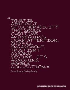Trust Brene Brown