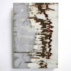 Concrete and mixed media work by Marlies Hoevers.