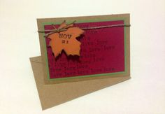 Save the Date Fall Rustic Love. Handmade and Custom Colors (FREE US SHIPPING!)