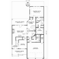 Patio lot size Traditional Style House Plans - 2457 Square Foot Home , 2 Story, 3 Bedroom and 2 Bath, 2 Garage Stalls by Monster House Plans - Plan 12-837