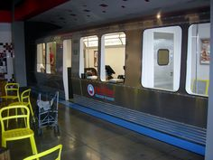Red Line Frozen Yogurt | A TRAIN Theme!  Train is only in Greenwood, IN.