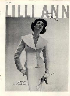 Lilli Ann Suit Harper's Bazaar April 1957