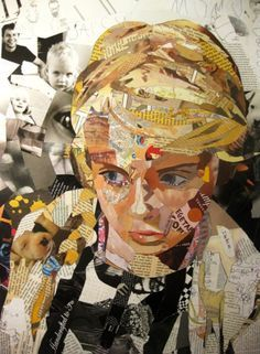Awesome illustration portraits from the collage artist Patrick Bremer, he creates creative collage art of beautiful, awesome, colorful and illustrated portraits Collage Kunst, Art Du Collage, Mixed Media Collage, Art Collages, Art And Illustration, Collage Illustrations, L'art Du Portrait, Collage Portrait, Magazine Collage