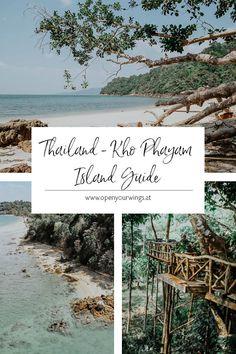 Du suchst einen Rückzugsort in Thailand, wo du relaxen kannst und wo es noch menschenleere Strände gibt? Dann hab ich genau das Richtige für dich: die Insel Kho Phayam 🌴🏄♀️☀️ Ko Samui, Chiang Rai, Krabi, Bangkok, Thailand, Tricks, Travel Inspiration, Asia, Hotels