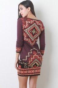 Tribal Knit Dress #urbanog