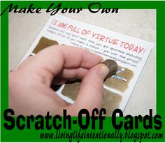 Make Your own Scratch-off Paint with FREE printable to help kids show virtue!