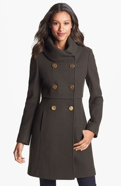Elie Tahari 'Alessia' Double Breasted Coat available at #Nordstrom