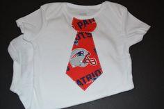 New England Patriots Baby - Patriots Boy Shirt - Patriots Tshirt - New England Toddler Outfit - Patriots Children's Tie Bodysuit or T-Shirt by BrikayDesigns on Etsy