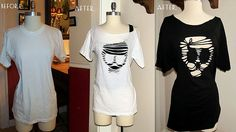 #39  Re-Style a t-shirt to make a fun skull one