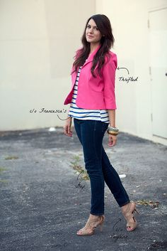 I'm officially on the search for a pink blazer!!!