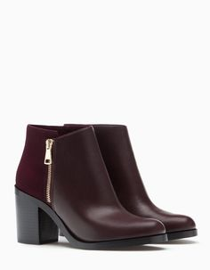 High heel ankle boots with zip detail - BOOTS AND ANKLE BOOTS - WOMAN | Stradivarius Serbia