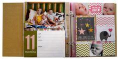 Sn@p! Baby Girl Binder - Scrapbook.com
