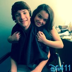 """Photo: Paris Berelc With Jake Short On The Set Of """"Mighty Med"""" December 5, 2013"""