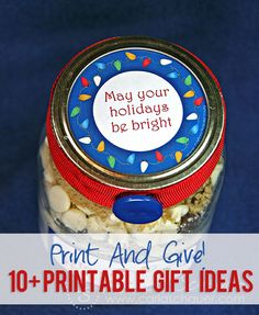 Print and Give! 10+ Printable Gift Ideas howdoesshe.com