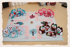 playing with owls. Sewing Crafts, Sewing Projects, Owl Fabric, Sewing Lessons, Sewing For Kids, Handmade Toys, Diy Crafts For Kids, Craft Gifts, Handicraft