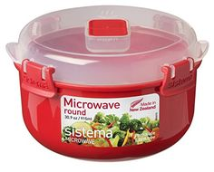 Sistema Red/clear Round Microwave Container 915 Ml