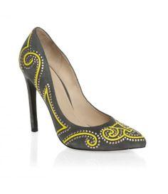 Mascotte High heeled elegant court shoes, Grey