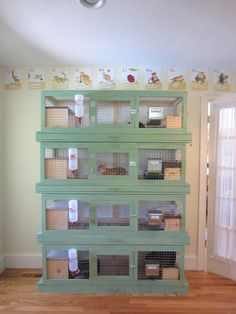 VERY cool indoor rabbit hutches!